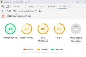 cplinternet.net site performance Before being optimised
